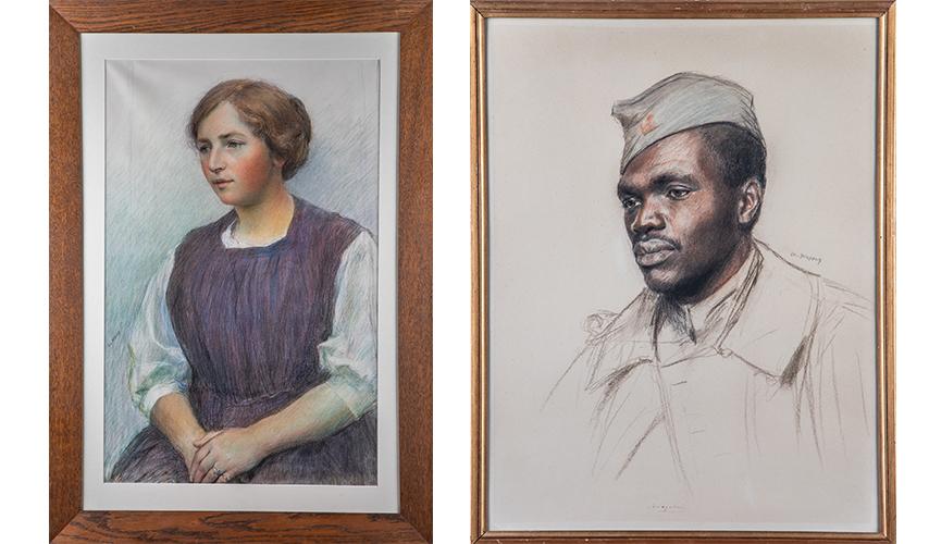 La Jeune fille – 1914-1917 et Le Soldat noir américain – 1917